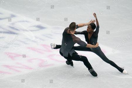 Vanessa James and Morgan Cipres of France perform during the Pairs free skating Program