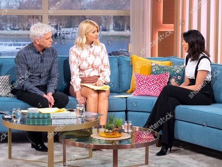 Phillip Schofield and Holly Willoughby with Bhavna Limbachia