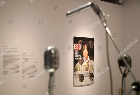 Stock Photo of 'Black Ebony II' artwork by artist US Lyle Ashton Harris on display at the exhibition 'Michael Jackson: On the Wall' during a press preview at the Bundeskunsthalle in Bonn, Germany, 21 March 2019. The show explores the influence of late US musician Michael Jackson in contemporary art. The exhibition runs from 22 March to 14 July 2019.