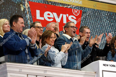 Harmit Singh, Chip Bergh. Levi Strauss CEO Chip Bergh, right, is joined by CFO Harmit Singh, second from right, as he rings the New York Stock Exchange opening bell, . Levi Strauss & Co., which gave America its first pair of blue jeans, is going public for the second time. The 166-year-old company, which owns the Dockers and Denizen brands, previously went public in 1971, but the namesake founder's descendants took it private again in 1985