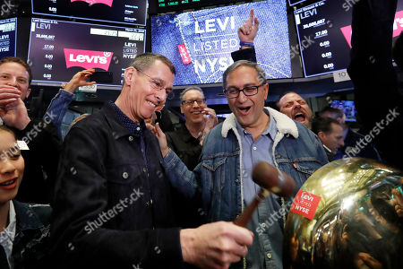 Harmit Singh, Chip Bergh. Levi Strauss CEO Chip Bergh, left, is joined by CFO Harmit Singh as he rings a ceremonial bell when his company's IPO begins trading on the floor of the New York Stock Exchange, . Levi Strauss & Co., which gave America its first pair of blue jeans, is going public for the second time. The 166-year-old company, which owns the Dockers and Denizen brands, previously went public in 1971, but the namesake founder's descendants took it private again in 1985