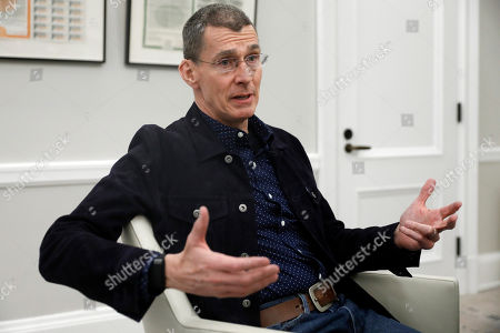 Levi Strauss CEO Chip Chip Bergh is interviewed by The Associated Press, at the New York Stock Exchange, after his company's IPO, . Levi Strauss & Co., which gave America its first pair of blue jeans, is public for the second time