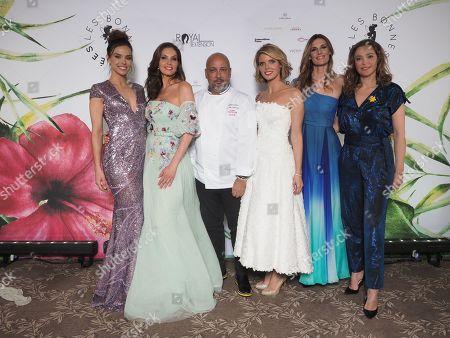 Marine Lorphelin, Mareva Georges, Frederic Anton, Sylvie Tellier, Sophie Thalmann et Sandrine Quetier