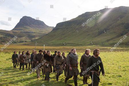 Chris Pine as and Robert Bruce, Earl of Carrick, Aaron Taylor-Johnson as James Douglas, Lord of Douglas and Tony Curran as Angus Og Macdonald, Lord of Islay