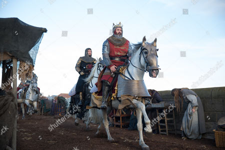 Stock Photo of Billy Howle as Edward, Prince of Wales and Stephen Dillane as King Edward I of England