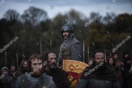 Tony Curran as Angus Og Macdonald, Lord of Islay and Chris Pine as and Robert Bruce, Earl of Carrick