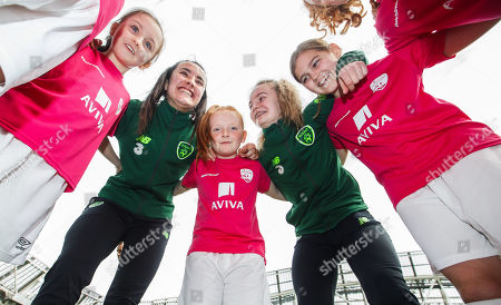 Editorial picture of Aviva Soccer Sisters Launch, Aviva Stadium, Dublin  - 21 Mar 2019