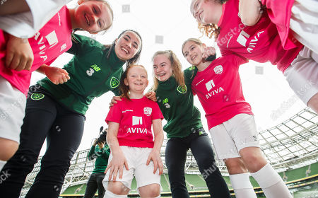 Editorial photo of Aviva Soccer Sisters Launch, Aviva Stadium, Dublin  - 21 Mar 2019