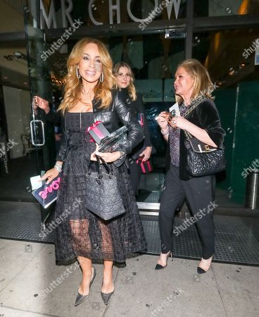 Stock Image of Faye Resnick and Kathy Hilton at Mr Chow Restaurant