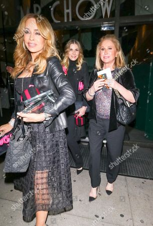 Stock Picture of Faye Resnick and Kathy Hilton at Mr Chow Restaurant