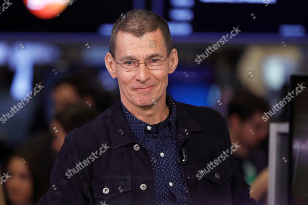 Levi Strauss CEO Chip Bergh is interviewed on the floor of the New York Stock Exchange
