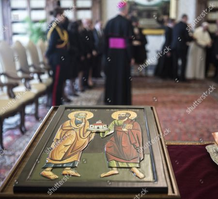 Editorial picture of Pope Francis receives Maltese President Marie-Louise Coleiro Preca, Vatican City - 21 Mar 2019