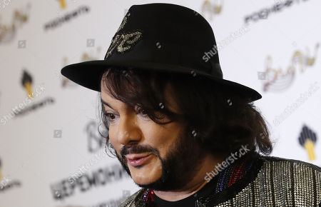 Philipp Kirkorov poses during the 2nd award ceremony of the International Professional Music Award 'BraVo' in the field of popular music at the State Kremlin Palace in Moscow, Russia, 21 March 2019.