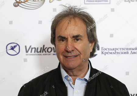 Chris de Burgh poses during the 2nd award ceremony of the International Professional Music Award 'BraVo' in the field of popular music at the State Kremlin Palace in Moscow, Russia, 21 March 2019.