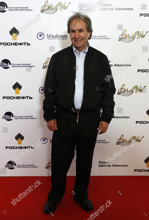 Stock Image of Chris de Burgh poses during the 2nd award ceremony of the International Professional Music Award 'BraVo' in the field of popular music at the State Kremlin Palace in Moscow, Russia, 21 March 2019.