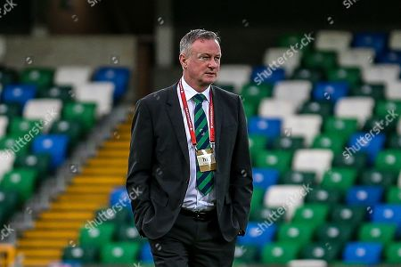 Stock Picture of Northern Ireland Manager Michael O'Neill ahead of the UEFA European 2020 Qualifier match between Northern Ireland and Estonia at National Football Stadium, Windsor Park