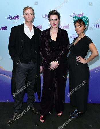 Rupert Penry Jones, Chanya Button and Karla Crome