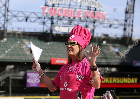 John Legere films a live broadcast of his Slow Cooker Sunday series at T-Mobile Park. Employees were on site as the audience at the newly branded stadium. in Seattle