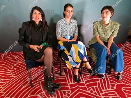 "Film Director Alejandra Marquez, left, actress Cassandra Ciangherotti, center, and actress Ilse Salas pose for a photo during an interview about their film ""Las ninas bien"" in Mexico City. The film premieres in Mexico on March 22"
