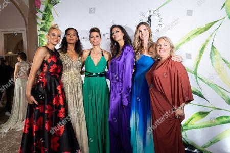 Elodie Gossuin, Corinne Coman, Melody Vilbert, Chloe Mortaud, Sophie Thlmann and Valeire Damidot