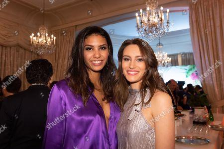 Stock Photo of Chloe Mortaud and Louane Lorphelin