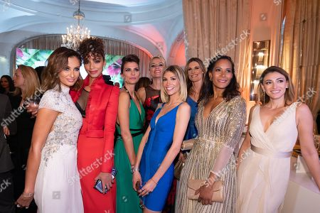Malika Menard, Flora Coquerel, Melody Vilbert, Elodie Gossuin, Sophie Thalmann, Corinne Coman and Rachel Legrain Trapani