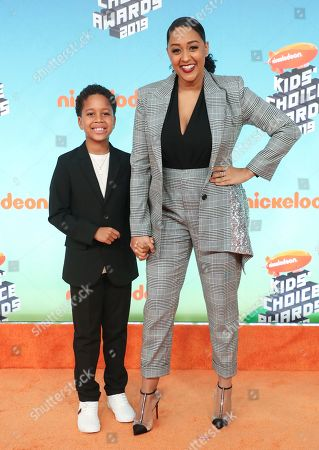 Stock Picture of Cree Taylor Hardrict and Tia Mowry-Hardrict