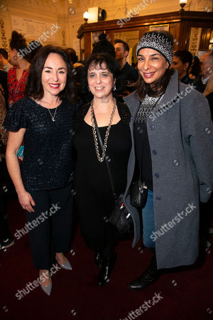 Stock Photo of Samantha Spiro, Nica Burns (Producer) and Shobna Gulati