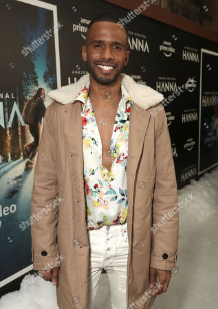 Eric West attends the Amazon Studios Hanna Premiere at The Whitby hotell on March 21, 2019, in New York, NY.