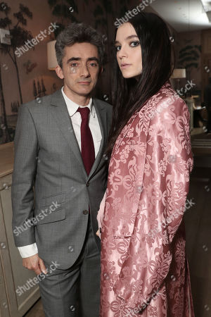 Writer and Executive Producer David Farr and Esme Creed-Miles attend the Amazon Studios Hanna Premiere at The Whitby hotell on March 21, 2019, in New York, NY.