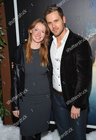 "Stock Picture of Kersti Bryan, Dan Amboyer. Actors Kersti Bryan, left, and Dan Amboyer attend the premiere of Amazon Prime Video's ""Hannah"" at The Whitby Hotel, in New York"