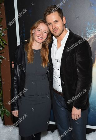 "Kersti Bryan, Dan Amboyer. Actors Kersti Bryan, left, and Dan Amboyer attend the premiere of Amazon Prime Video's ""Hannah"" at The Whitby Hotel, in New York"