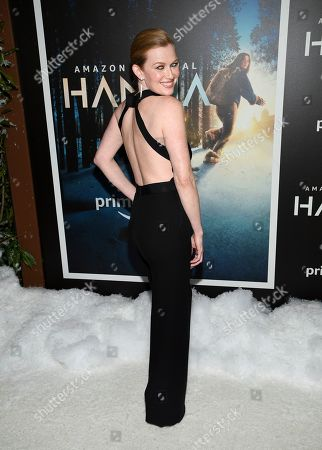"""Stock Image of Mireille Enos attends the premiere of Amazon Prime Video's """"Hannah"""" at The Whitby Hotel, in New York"""