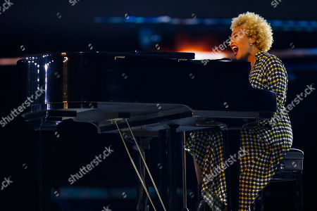 """Emeli Sandé performed her song, """"Hope,"""" inspired by Dr. Martin Luther King Jr. at the inaugural Beloved Benefit at Mercedes-Benz Stadium, in Atlanta"""