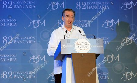 Governor of the Bank of Mexico Alejandro Diaz de Leon participates in the inauguration of the 82nd annual meeting of the Mexican bank in Acapulco, state of Guerrero, Mexico, 21 March 2019. Diaz de Leon said that Mexico will achieve its goal of reducing inflation to 3 percent in the middle of next year thanks to the monetary policy that is being carried out.