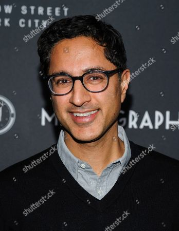 Maulik Pancholy attends the third anniversary party for Metrograph and launch of Metrograph Pictures, in New York