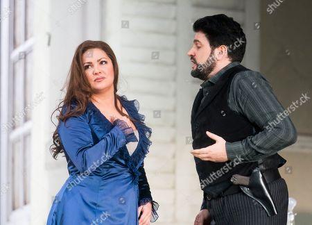 Editorial image of 'La Forza del Destino' Opera performed at the Royal Opera House, London, UK, 19 Mar 2019