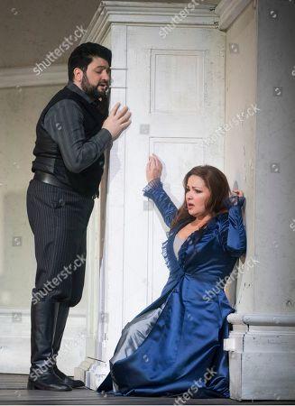 Stock Picture of Anna Netrebko as Leonora, Yusif Eyvazov as Don Alvaro