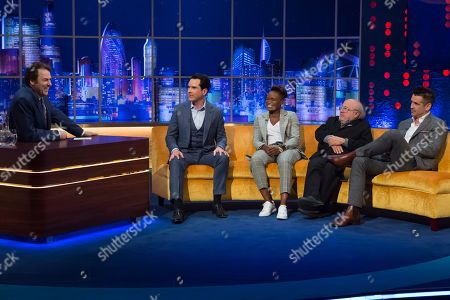 Jonathan Ross with Jimmy Carr, Nicola Adams, Danny DeVito and Colin Farrell
