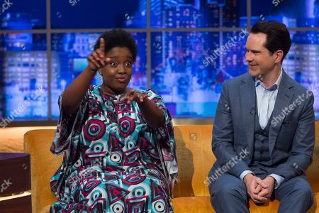 Lolly Adefope and Jimmy Carr