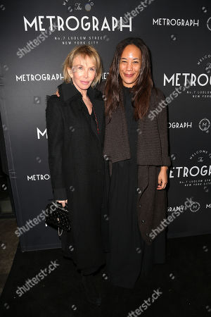 Stock Image of Trudie Styler and Margaret Betts