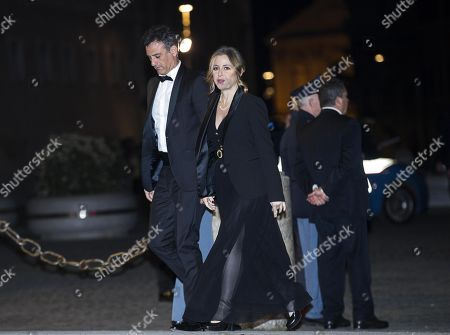 Stock Picture of Italian Minister of Health, Giulia Grillo (C), arrives  at the Quirinale Palace for a dinner in honor of the visit of Chinese President Xi Jinping held by Italian President Sergio Mattarella in Rome, Italy, 22 March 2019. President Xi Jinping is in Italy to sign a memorandum of understanding to make Italy the first Group of Seven leading democracies to join China's ambitious Belt and Road infrastructure project.