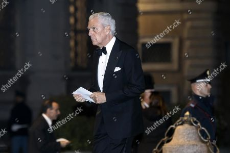 Executive Vice President of Pirelli, Marco Tronchetti Provera, arrives at the Quirinale Palace for a dinner in honor of the visit of Chinese President Xi Jinping held by Italian President Sergio Mattarella in Rome, Italy, 22 March 2019. President Xi Jinping is in Italy to sign a memorandum of understanding to make Italy the first Group of Seven leading democracies to join China's ambitious Belt and Road infrastructure project.