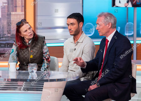 Jackiey Budden and Jack Tweed with Dr Hilary Jones