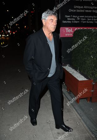 Bill Murray seen arriving at Pepenero restaurant in Canning Town favoured by the former Eastender and other members of Eastenders cast