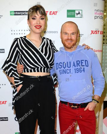 Paris Lees and Philip Christopher Baldwin, seen during the National Student Pride, an annual event for students and graduates at University Of Westminster, Marylebone Road.