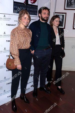 Alice Isaaz, William Lebghil and Diane Rouxel