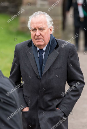 Peter Hain arrives at the funeral. Jeremy Corbyn spoke at the funeral service.