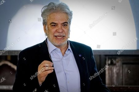 EU Commissioner for Humanitarian Aid and Crisis Management Christos Stylianides speaks at sala dei Baroni hall of Maschio Angioino in Naples, Italy, 22 March 2019. Christos Stylianides took part in a dialogue meeting with citizens and students entitled 'Solidarity in a Europe that protects: strengthening civil protection by rescEU'.