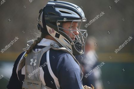 Stock Picture of Yale's Olivia Lee during an NCAA softball game on in Staten Island, N.Y
